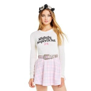 Wildfox Slightly Superficial Mia Long Sleeve